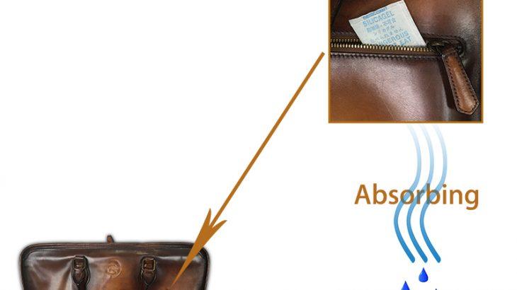 gói hút ẩm silica gel bảo quản túi xách khỏi độ ẩm